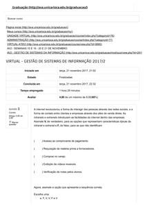 Pack Av1 e Av2 - Gestão de Sistemas da Informação - Provas unicarioca