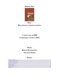 CHAUI, M. (2000) Mito Fundador e Sociedade Autoritaria