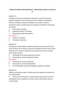 Praticas Formativas Interdisciplinares II Metodologia do Ensino de Ciências 01