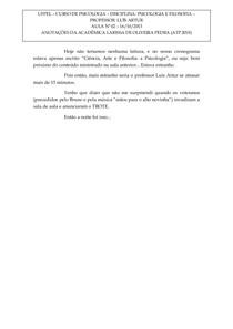PSICOLOGIA E FILOSOFIA - AULA 02