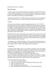 Resumo Processo Penal 2 bimestre  finalizado