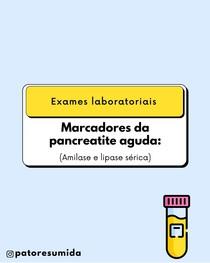 Marcadores da Pancreatite Aguda