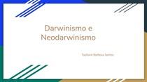 Darwinismo e Neodarwinismo
