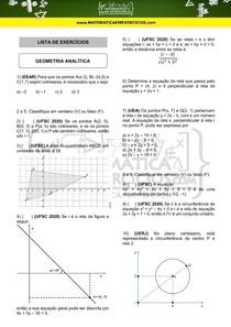 Exercícios - Geometria analítica
