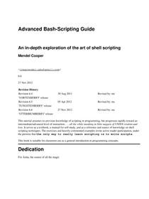 Advanced Bash-Scripting Guide - Lógica para Computação - 10