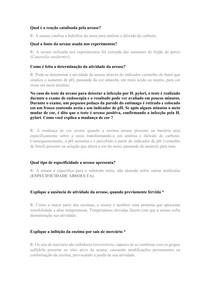 Questionário urease - Bioquímica
