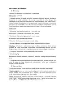 PROTOZOÁRIOS EM RUMINANTES (RESUMO)