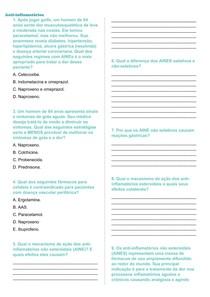Questões sobre os Anti-inflamatórios + gabarito