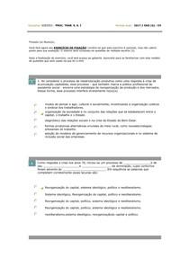 Processo de Trabalho em Serviço Social I   Exercício de Fixação 2  Aula 5