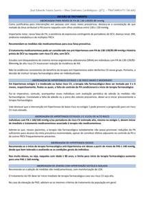 Tratamento da Hipertensão Arterial (baseado na 7ª Diretriz Brasileira e no livro de Braunwald)