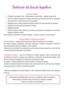 Avaliação da função hepática de pequenos - Patologia Clínica Veterinária