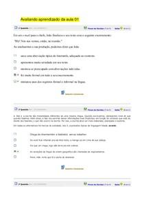 avaliando de 1 á 8