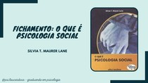 Fichamento o que é Psicologia Social