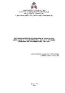 9a2ed4936302a SGSI UMA VERIFICAÇÃO DE FERRAMENTA PARA A GESTÃO DE ATIVOS EM CONFORMIDADE  COM A NBR ISOIEC