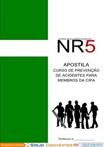 7e082fa174e0c Cipa e NR 05 - Ergonomia e Segurança do Trabalho