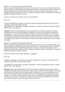 PROVA DISCURSIVA - SISTEMÁTICA DE EXPORTAÇÃO E DRAWBACK - COMÉRCIO EXTERIOR - UNINTER