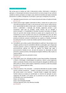 Aula 3 e 4 - PRINCIPIOS PROCESSUAIS PENAIS e PERSECUÇÃO PENAL