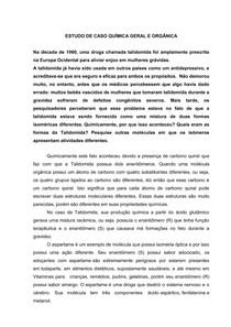 ESTUDO DE CASO QUIMICA GERAL E ORGANICA