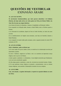 QUESTÕES DE VESTIBULAR 1.0