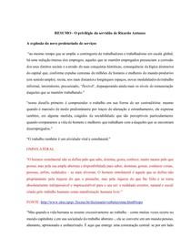 O privilegido da servidão de Ricardo Antunes (FICHAMENTO)
