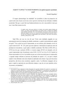 II - O QUE É CAPITAL NA VISÃO MARXISTA - do capital enquanto reprodução social
