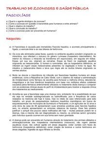 FASCIOLÍASE- ZOONOSES DE BAIXA OCORRÊNCIA