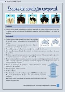 Escore de condição corporal - Zootecnia