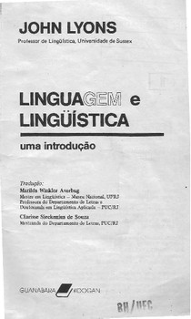 Linguagem e Linguística - John Lyons (livro completo)