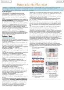 Fisiologia- tecido muscular