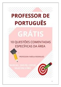 Letras - Concurso para professor de Português - Questões comentadas