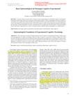 bases epistemologicas da psicologia cognitiva
