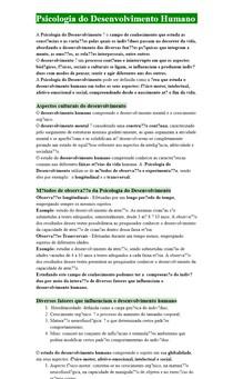Psicologia do Desenvolvimento Humano (Aula)