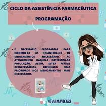 Ciclo da Assistência Farmacêutica- PROGRAMAÇÃO