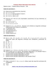 Resumo álgebra linear