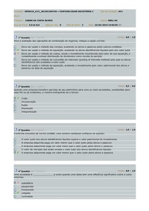 AV1 Contabilidade Societaria I - Contabilidade Societária I