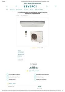 Ar Condicionado Split Piso Teto Inverter Fujitsu 32 000 BTUs Quente_Frio 220V Monofásico - Leveros