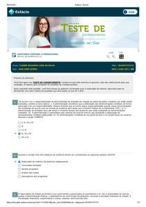 Aula 09 - Exercícios Auditoria Contábil e Operacional