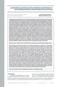 A Importância da Ventilação nos Ambientes Construídos e o Uso de Modelo Para sua Visualização em Salas de Aula