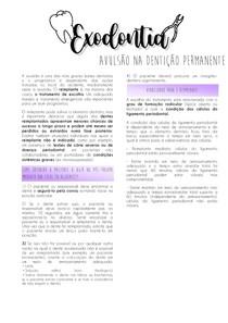AVULSÃO NA DENTIÇÃO PERMANENTE (REIMPLANTE DENTÁRIO)