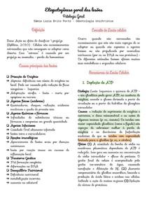 Etiopatogênese geral das lesões