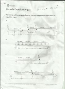 Diagramas de Esforço Cortante e Momento Fletor