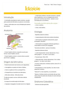 Icterícia clínica cirúrgica