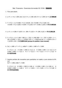 Mat Fin - Exercícios de revisão 02 - 01_04 - Gabarito