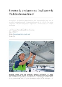 Sistema de desligamento inteligente de módulos fotovoltaicos