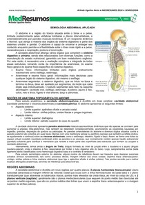 MEDRESUMO Semiologia Abdominal Aplicada
