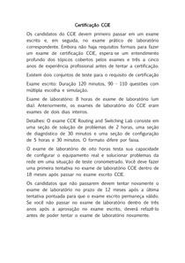 Certificação CCIE