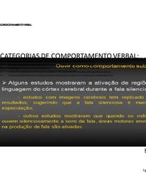 CONDICIONAMENTO VERBAL