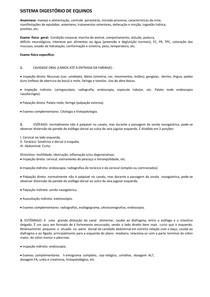 Resumo semiologia (equinos) sistema digestório e locomotor