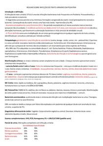 RESUMO SOBRE INFECÇÃO DO TRATO URINÁRIO EM PEDIATRIA