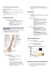Semiologia - Aferição de dados vitais e frequência de pulso